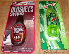 Fun Doll Finds – Mountain Dew and Hershey Syrup Lip Balms- always be on the look out for AG doll stuff