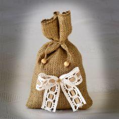 SET OF 50 Natural Rustic Burlap Wedding Favor Bag or by Teomil, $155.00