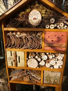 Hotel broučků :: Vceliproduktyzesrdce House Bugs, Frog House, Bee House, Dragon Garden, Garden Bugs, Garden Art, Bee Book, Bug Hotel, Topiary Garden