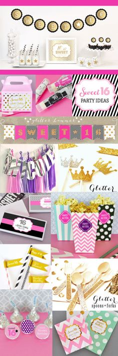 Check out all of Event Blossom's fun #Sweet16 & #Quinceañera party favors & decor you can personalize to match your party theme!
