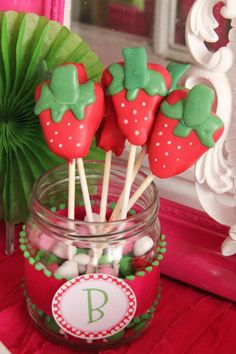 Strawberry 1st Birthday Party - Kara's Party Ideas - The Place for All Things Party