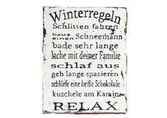 *Dekoratives Holzschild mit Winterstimmung für drinnen zur Wandgestaltung oder draußen zur Deko* geeignet.  Winterregeln, die man gerne beachtet.  *Auf Wunsch lackiert-bitte bei der Bestellung...