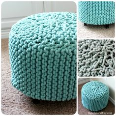 Batchelors Way: Rustic Charm Room - How to Make a DIY Pouf or ottoman