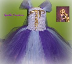 Rupunzel Inspired tutu dress by sparklecreationsbows on Etsy, $40.00