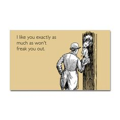 I Like You Sticker (Rectangle) #cafepress #humor #funny #relationships #dating