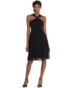 Convertible! White House | Black Market Genius Convertible Black Bridesmaid Dress #whbm