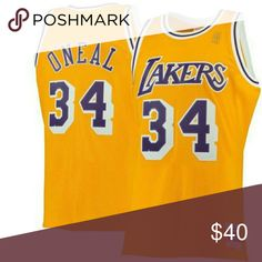 479673da013 Shaquille O'Neal Lakers Throwback NBA Jersey Shaquille O'Neal Lakers  Throwback NBA Jersey New with tags Shirts Tank Tops