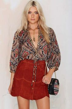 Native Rose Silk Road Paisley Top