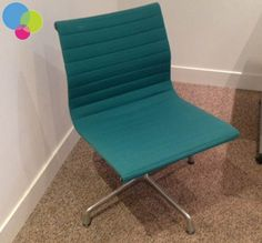Charles Eames Original Visitor Chairs Net price Charles Eames Original Ribbed visitor chair Upholstered in green Chome frame Chrome swivel base RRP new over Buy Used Furniture, Office Furniture, Used Chairs, Charles Eames, Upholstered Chairs, Floor Chair, Chrome, Base, The Originals