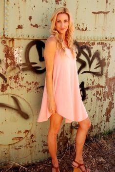 Scoop Loose Sleeveless Irregular Pure Color Short Dress