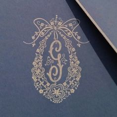 Engraved monogram elegance for writing paper and correspondence cards