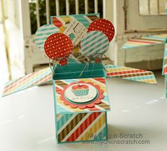 How to make a Card in a Box with Stampin' Up! Demonstrator Angie Kennedy Juda