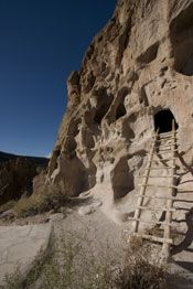 """cliff dwellings ladder  Ohkay Owingeh  """"Village of the Strong People"""""""