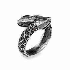 Anell PLATADEPALO disseny serp en plata de primera llei. Anillo PLATADEPALO diseño serpiente en plata de primera ley.