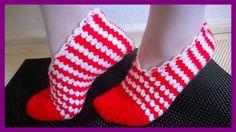 Crochet Shoes, Crochet Slippers, Crochet Videos, Knitting Accessories, Baby Blanket Crochet, Baby Booties, Womens Slippers, Lana, Christmas Stockings
