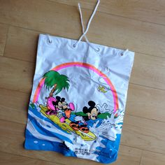 Mickey Mouse + Nephews Plastic Drawstring Bag / SURFING / By The Wet Set by Intex by TheHighwayThrifters on Etsy #waltdisney #disney #mickeymouse #mickeymouseandnephews #mickeysurfing #surfing #ocean #beach #plasticbag #thehighwaythrifters #intex #thewetset  #wetsetbyintex #inflatablebag #inflatethis #inflated #etsy #etsyseller #etsyshop #vintageforsale #bestfind #findoftheday #vintagebloggers #vintageblogger #vintagebloggers #vintagebloggersUSA #mickey #mouse #vintagedisney