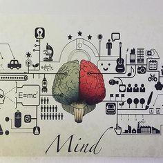 """""""Rare sono le persone che usano la mente, poche coloro che usano il cuore e uniche coloro che usano entrambi."""" #mente #infographic #quadro #home #top"""
