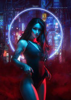 ArtStation - ⸸ Neon Witches Calendar, Aku 悪