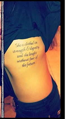 """proverbs tattoos 31:25 