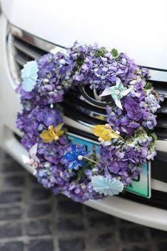 cute Bridal Car flowers