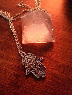 Hand of Fatima Necklace, Silver Hamsa Pendant, Hamsa Jewelry ~ Sale Expires Today