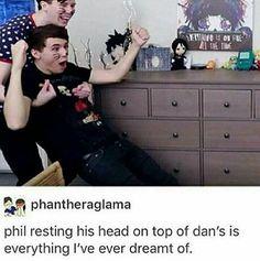 Dan seemed legitimately surprised that Phil caught him. Idk why. Phil Lester, Dan Howell, Phan Is Real, Dan And Phill, Phil 3, Danisnotonfire And Amazingphil, Tyler Oakley, Markiplier, Best Youtubers