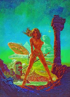 Tarantula – Science Fiction B Movie Classic – Mini Art Print Poster A Sci Fi Kunst, Science Fiction Kunst, Templer, Classic Sci Fi, Sword And Sorcery, Fantasy Illustration, Pulp Art, Retro Art, Illustrations