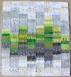 Green and Gray Modern Baby Quilt