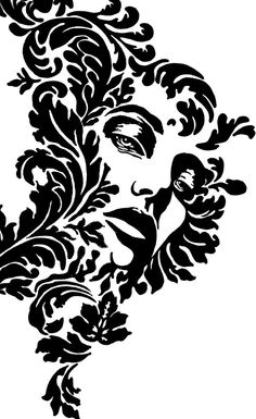 Image detail for -Fiona Damask by on deviantART Stencil Decor, Stencil Painting, Stencil Designs, Wall Stencil Patterns, Damask Tattoo, Black Dragon Tattoo, Silhouette Art, Stained Glass Patterns, Airbrush