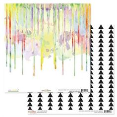 Glitz WILD & FREE 12x12 Double-Sided Cardstock Sheet - Watercolor Drip