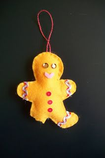 yellow felt gingerbread