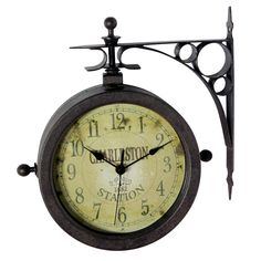 Infinity Instruments 12430CT-RUV2 The Charleston Two-Sided Indoor/Outdoor Hanging Clock - Decor Universe