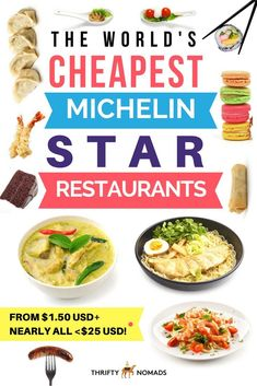 The 25 Cheapest Michelin Star Restaurants in the World via @thriftynomads