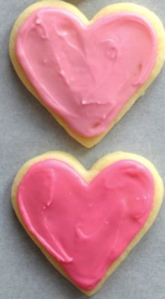 The Best Valentine Sugar Cookies ~ These are simply the best!