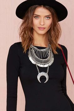 Coined It Necklace - Accessories   Necklaces   Silver