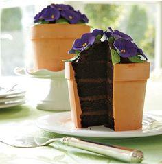 flower pot shaped cake!!