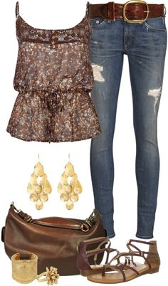 """Casual Spring Browns"" by angela-windsor on Polyvore"