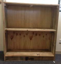 Bookcase. Aware Industries skilled staff are now making furniture from recycled furniture from recycled timber pallets. Visit our website today for further details and to see other items available www.awareindustries.com.au