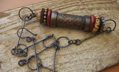 Rustic Tribal Copper Tube Necklace by annamei on Etsy, $82.00