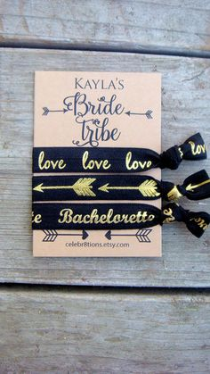 Bride Tribe, Bachelorette Favors, Bachelorette Hair Ties