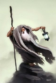The Hermit by Browning (Would you put down that crystal ball and help an old man, Sally!?)