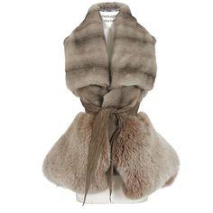 Rick Owens Taupe Mink, Scandinavian Fox And Kangaroo Leather... ($20,605) ❤ liked on Polyvore