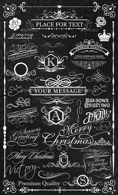 Buy Calligraphic Elements Set by yawahabo on GraphicRiver. set of classical design elements to embellish your layouts – file Calligraphy Fonts Alphabet, Cursive Alphabet, Tattoo Lettering Fonts, Lettering Styles, Lettering Design, Flourish Calligraphy, Learn Calligraphy, Chalkboard Lettering, Chalkboard Designs