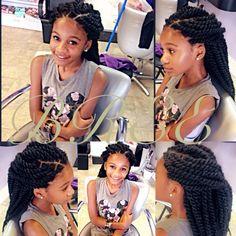 Marley twist , Havana twist #protective styles kid braids kid styles