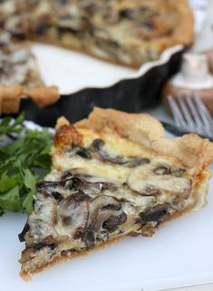 Mushroom and Gruyère Tart - When you have a house full of people, something like this tart is perfect, because one big tart can feed the entire family for at least one meal.