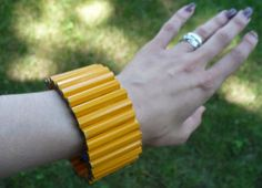 Whether you have a trendy teen or you know a teacher who enjoys quirky accessories, nothing screams back-to-school fashion quite like a pencil cuff bracelet.  And they're so easy to make!