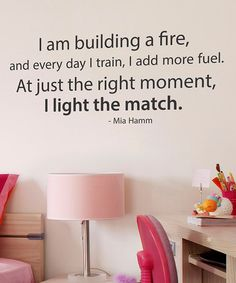 Take a look at this Black 'Building a Fire' Wall Quote by Wallquotes.com by Belvedere Designs on #zulily today!
