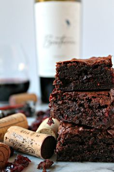 Do you dream in chocolate? If you don't, you'll start after trying these Red Wine Brownies! This wine dessert recipe is soon to be your favorite grown-up treat. Chocolate Butter, Chocolate Brownies, Chocolate Flavors, Melting Chocolate, Chocolate Wine, Wine Recipes, Dessert Recipes, Wine Tasting Notes, Tasting Room