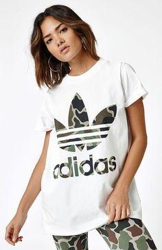 designer fashion dd682 ffe0f adidas Camouflage Big Trefoil T-Shirt at PacSun.com