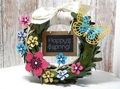 Peanuts and Peppers Papercrafting: Make It Monday - Stampin' Up! Lovely Little Wreath April 2016 Paper Pumpkin Kit (I Pumped Up The Pumpkin!)